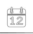 simple calendar icon design vector image