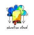 sketch watercolor icon of education cloud vector image