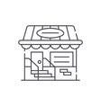small shop line icon concept small shop vector image