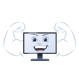 Smiling powerful computer vector image vector image