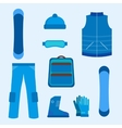 Snowboard infographics elements vector image vector image
