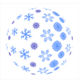 Snowflakes in sphere vector image vector image