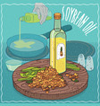 soybean oil used for frying food vector image vector image