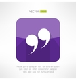 Speech text qoute icon in modern flat design vector image vector image