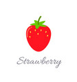 strawberry icon with title vector image vector image
