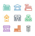 town icons vector image vector image