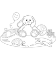 Toys coloring page vector image vector image