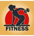 Training woman fitness emblem vector image vector image