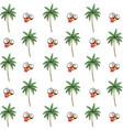 tropical coconut cartoon vector image vector image