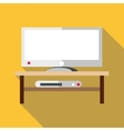 TV set icon flat style vector image vector image