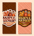 vertical banners for maple syrup vector image vector image