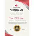 vertical modern certificate template vector image vector image
