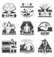 Vintage Body Building Label Set vector image