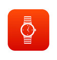 watch icon digital red vector image vector image