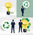 Businessman and Recycle symbol symbol on the vector image