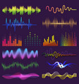 music waves of sound on radio audio vector image