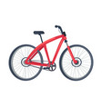bike of red color poster vector image