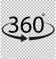 360 degree icon on transparent background 360 vector image vector image