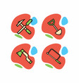 a set of icons of construction tools vector image vector image