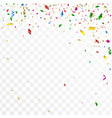 abstract confetti party background vector image vector image