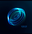 abstract futuristic object vector image vector image