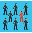 Against the flow the man is going against common vector image vector image