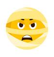 angry mummy emoji icon vector image
