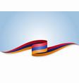 armenian flag wavy abstract background