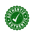 authentic grunge stamp with tick vector image vector image