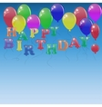 Background with letters of the balloons
