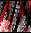 black and red tire track grunge background vector image