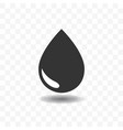 black drop or rain icon design concept vector image