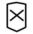 business error shop shield icon vector image