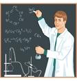 Chemist at blackboard vector image