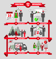 christmas and business infographic vector image vector image