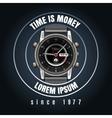 Classic wrist watches shop emblem vector image