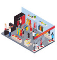 clothes shop isometric composition vector image