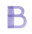 colorful watercolor aquarelle font type vector image