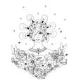 Creative idea - girl of a series vector image vector image