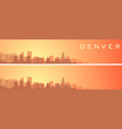denver beautiful skyline scenery banner vector image vector image