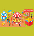 family entertainment park background vector image vector image