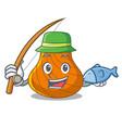 fishing hard shell mascot cartoon vector image vector image
