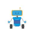 flat cartoon funny male boy robot vector image