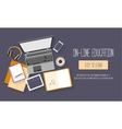 Flat design baners for online education vector image vector image