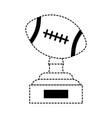 football trophy design vector image vector image