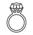 gemstone ring icon outline style vector image vector image