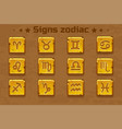 golden zodiac signs icons vector image vector image