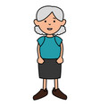 grandmother avatar character icon vector image vector image