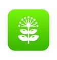 honey plant icon green vector image vector image