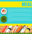 Infographic design with japanese food vector image vector image